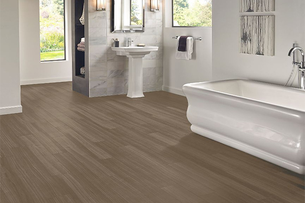 Luxury Vinyl Plank, Luxe Rigid Core, Empire Walnut, Flint Gray